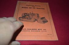 Allis Chalmers HD 11G Tractor Operator's Manual DCPA6