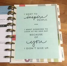 Inspiration Two-Sided Dashboard for use with Happy Planner *Create 365*