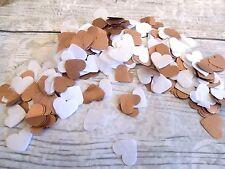 1000 vintage romántico papel de seda Corazón confeti Blanco Y Rosa Dorado/Bronce
