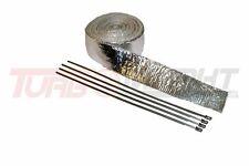 Hitzeschutzband Aluminium 5 Meter inkl. Kabelbinder Isolierband Auspuffband