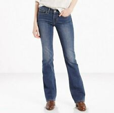 Levi's 715 Women's Girls Teens Mid Rise Slim Fit Bootcut Jeans Size W23 L30 L32