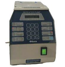 Baxa 095E 95 Repeater Pump peristaltic compunding pump Pharmaceutical Packaging