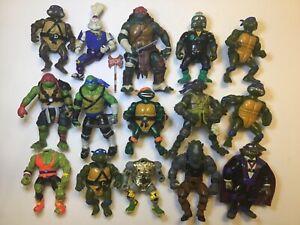 Vintage Teenage Mutant Ninja Turtles Action Figures Lot TMNT Playmates 80s 90s