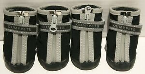 QumyPets Dog Reflective Rugged Neoprene Paw Protection Boots Shoes - Small