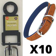 Job Lot 10 Rosewood Luxury Dog Collars Small
