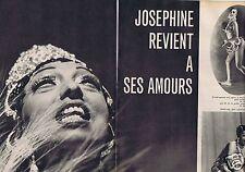 Coupure de presse Clipping 1959 Joséphine Baker  (4 pages)
