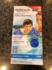 NEW Swim School Perfect Fit Fabric Arm Floats Level 3 40 to 80 lbs