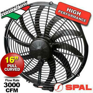"""NEW EF3634 ITALIA Spal Thermo 3000cfm Puller Fan 16"""" Screw Blade 12v + Free Ship"""