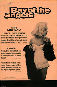 BAY OF THE ANGELS (1963) • Jeanne Moreau • Uncut • 4-pages