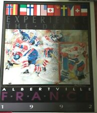 """Olympic Ice Hockey """"Experience The Dream"""" by Oliver Stankovsky signed Lithograph"""