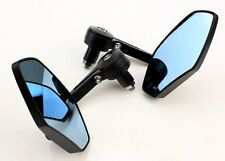 """7/8"""" BLACK HANDLE BAR END MIRRORS FOR BOBBER CLUBMAN RACER BUELL MOTORCYCLE/BIKE"""