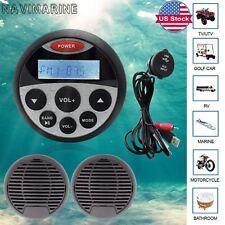 Marine AM FM Radio Waterproof ATV UTV Mp3 Player Bluetooth Audio Music Receiver