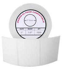 "2x1.5 (2"" x 1-1/2"") Direct Thermal Zebra Eltron Labels (3 Rolls/1000 Labels)"