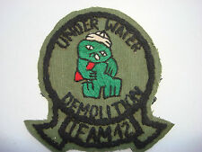 US Navy UNDERWATER DEMOLITION TEAM 12, Vietnam War Hand Sewn Patch