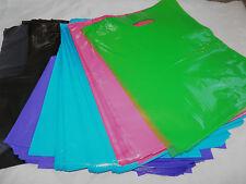 "12x15"" -Plastic Merchandise Bags~Pink Purple Blue Green Black or White (30 pack)"