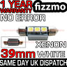39mm 3 SMD LED 239 272 C5W CANBUS NO ERROR WHITE INTERIOR LIGHT FESTOON BULB