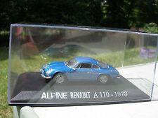 1/43 METAL RENAULT ALPINE A110 1973 bleue!!!!