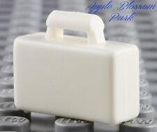 NEW Lego City Minifig WHITE BRIEFCASE -Boy/Girl Minifigure Bag Suit Attache Case