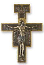 "The San Damiano Crucifix Cross Wall Plaque Sculpture 10"" - WE SHIP WORLDWIDE"