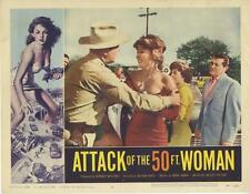 """ATTACK OF THE 50 FOOT WOMAN""-ORIGINAL LOBBY CARD-HORROR-ALLISON HAYES-#4"