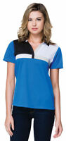Tri-Mountain Women's New Moisture Wick Short Sleeve Polyester Polo Shirt. KL109