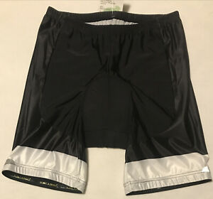 Yooki Mens Bike Cycling Shorts, Padded, Size Medium, Black, White, NWT