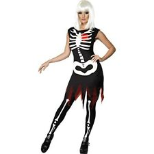 Bright Bones Glow in The Dark Costume Halloween Adult Fancy Dress Medium 12 14