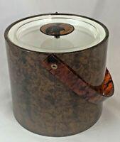Vintage Designer Georges Briard Tortoise Shell Ice Bucket Mid Century MCM NICE!