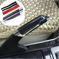 Universal Black Hand Brake Protector Decoration Cover Carbon Fiber Car Accessory