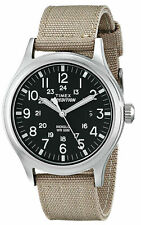 Timex T49962, Men's Expedition Scout Tan Fabric Watch, Date, Indiglo