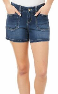 Unionbay Juniors Mid-Rise Solid Denim Shorts