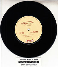"""BRIAN HYLAND Sealed With A Kiss & Ginny Come Lately 7"""" 45 + juke box strip RARE!"""