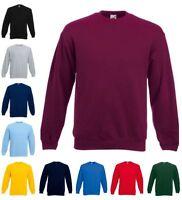 FRUIT OF THE LOOM Sweatshirt  Set-In Rundhals langarm - S M L XL XXL 3XL (2)