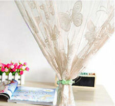 Butterfly Door Window String Fringe Curtain Drape Divider Tassel Beige 2x1M