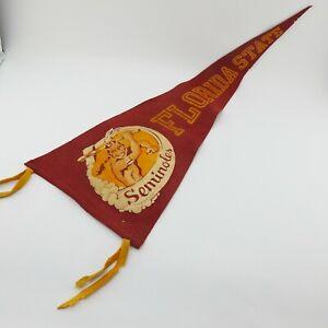 Vintage Florida State University Wool Football Pennant FSU Seminoles Collegiate
