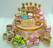 More details for dolls house sweets 5 x assorted fudge miniature gift box and or jar 1/12 scale