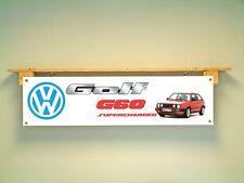 VW MK2 Golf G60 Banner Volkswagen workshop Garage