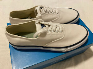 Sperry Top Sider Men's 8.5 White Canvas Sneaker