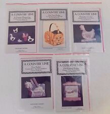 Lot Of 5 - Vintage - A Country Line - Pattern Packets - Cow, Cat, Bridge,Chicken