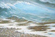 """Seashore, original Eastern European oil painting by Andrey Stas 24x36"""" 62x92 cm"""