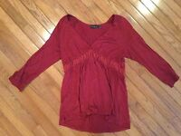 THE LIMITED V-NECK SHIRT TOP BLOUSE SIZE Large 3/4 Sleeves