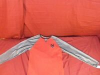 ZOO YORK Red Gray Mesh Sleeves Long Sleeve Shirt ZY Large XXLarge NEW Tags 5417