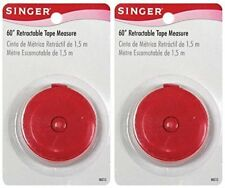 Singer Retractable Tape Measure 60 Inch / Centimeter  - 2 Pack