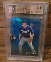 2014 Corey Seager Bowman Platinum Blue Refractor /199 BGS 9.5