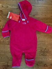 Baby Girls Authentic North Face Fleece Bunting Jacket Winter Pink  0 3 Months