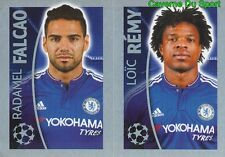 463 RADAMEL FALCAO / LOIC REMY  CHELSEA FC STICKER CHAMPIONS LEAGUE 2016 TOPPS