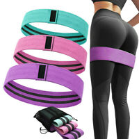 3 x Ladies Resistance Bands Elastic Legs Exercise Expanders Squat Yoga Non Slip