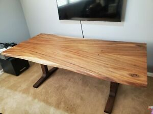 Crate&Barrel Live Edge Dinning Room Table