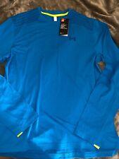 Under Armour Mens Large Ua Sunblock Long Sleeve Blue Nwt-1306249