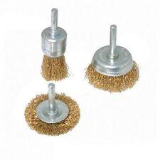 Silverline 985332 Jeu de 3 Brosses Métalliques Queue 6 mm